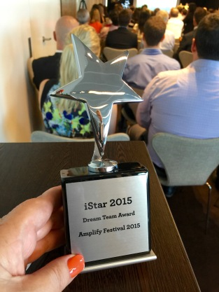 The Amplify 2015 wins the Dream Team award at AMP's 2015 iStar Innovation Awards function.